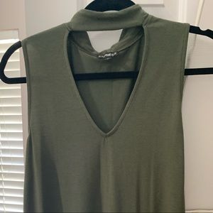 Olive green express tank size medium worn once